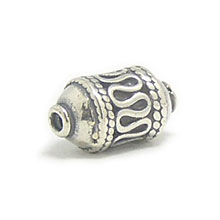 Bali Beads | Sterling Silver Silver Beads - Barrel and Pipe Beads, Silver Beads B1039