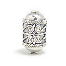 Bali Beads | Sterling Silver Silver Beads - Barrel and Pipe Beads, Silver Beads B1040