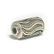 Bali Beads | Sterling Silver Silver Beads - Barrel and Pipe Beads, Sterling Silver Beads - B1042