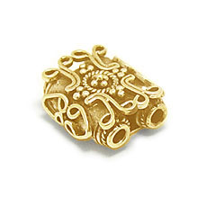 Bali Beads | Sterling Silver Vermeil-24k Gold Plated - Vermeil Connectors, 24K Gold Vermeil on Sterling Silver B2001V