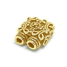 Bali Beads | Sterling Silver Vermeil-24k Gold Plated - Vermeil Connectors, 24K Gold Vermeil on Sterling Silver B2003V