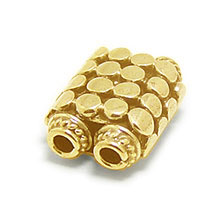 Bali Beads | Sterling Silver Vermeil-24k Gold Plated - Vermeil Connectors, 24K Gold Vermeil on Sterling Silver B2004V