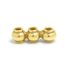 Bali Beads | Sterling Silver Vermeil-24k Gold Plated - Vermeil Connectors, 24K Gold Vermeil on Sterling Silver B2008V
