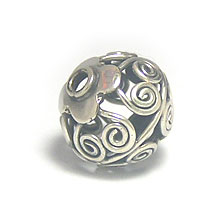 Bali Beads | Sterling Silver Silver Beads - Round Beads, Sterling Silver Beads - B5149