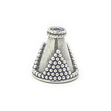 Bali Beads | Sterling Silver Silver Caps - Cone Caps, Silver Beads C1001