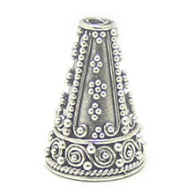 Bali Beads | Sterling Silver Silver Caps - Cone Caps, Silver Beads C1006
