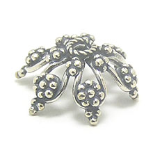 Bali Beads | Sterling Silver Silver Caps - Granulated Caps, Silver Beads C2004