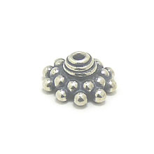Bali Beads | Sterling Silver Silver Caps - Granulated Caps, Silver Beads C2006