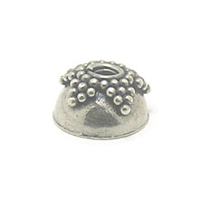 Bali Beads | Sterling Silver Silver Caps - Granulated Caps, Silver Beads C2014