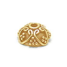 Bali Beads | Sterling Silver Vermeil-24k Gold Plated - Vermeil Ornate Caps, 24K Gold Vermeil on Sterling Silver C3003V