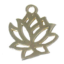 Bali Beads | Sterling Silver Silver Findings - Charms and Dangles, Lotus charms - F2086