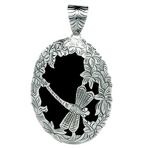Black onyx craft pendants bali sterling silver jewelry wholesale bali beads sterling silver silver jewelry black onyx craft pendants wholesale silver pendants mozeypictures Choice Image