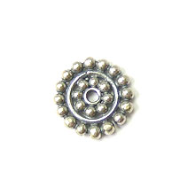 Bali Beads | Sterling Silver Silver Spacers - Flat Spacers, Silver Beads S1022