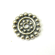 Bali Beads | Sterling Silver Silver Spacers - Flat Spacers, Silver Beads S1023