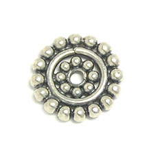 Bali Beads | Sterling Silver Silver Spacers - Flat Spacers, Silver Beads S1024