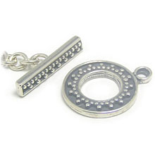 Bali Beads | Sterling Silver Silver Toggles and Claps - Ornate Toggles, Silver Beads T1001