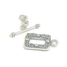 Bali Beads | Sterling Silver Silver Toggles and Claps - Ornate Toggles, Silver Beads T1004