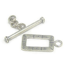 Bali Beads | Sterling Silver Silver Toggles and Claps - Ornate Toggles, Silver Beads T1005