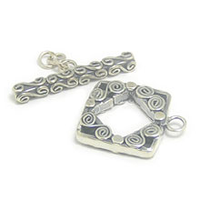 Bali Silver Toggles and Claps - Ornate Toggles