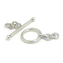 Bali Beads | Sterling Silver Silver Toggles and Claps - Simple Toggles, Silver Beads T2007