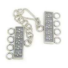 Bali Beads | Sterling Silver Silver Toggles and Claps - Claps, Silver Beads T5016