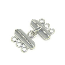 Bali Beads | Sterling Silver Silver Toggles and Claps - Claps, Silver Beads T5019